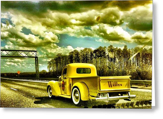 On The Road Again Greeting Card by Carlos Avila
