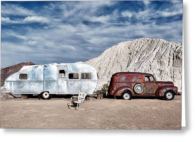 On The Road Again Greeting Card by Renee Sullivan