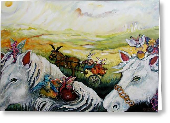 On The Road Again Greeting Card by Susan Brown    Slizys art signature name