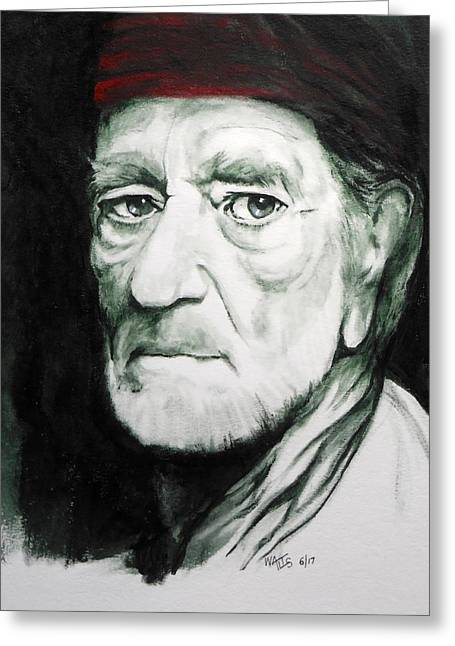 On The Road Again - Willie Greeting Card by William Walts
