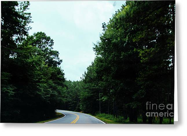 Greeting Card featuring the photograph On The Road by Andrea Anderegg