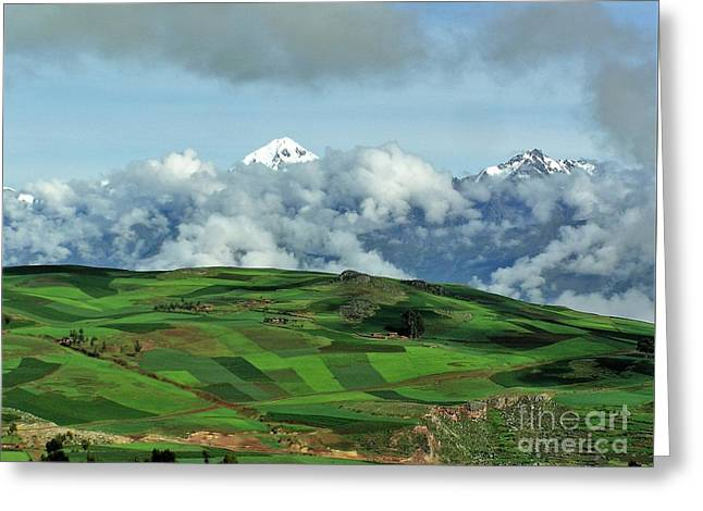 On The Road From Cusco To Urubamba Greeting Card