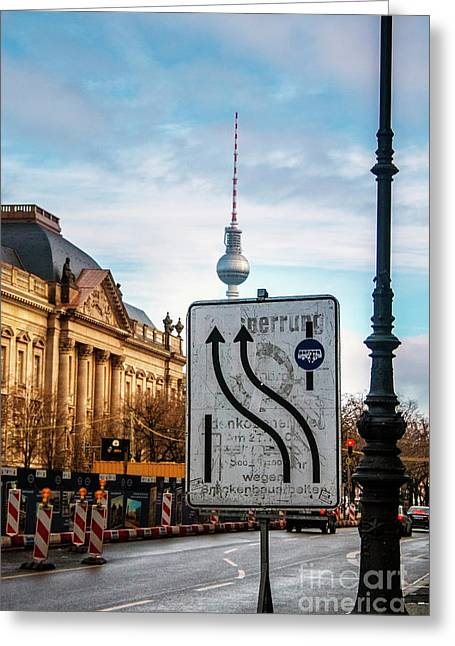 On The Road In Berlin Greeting Card
