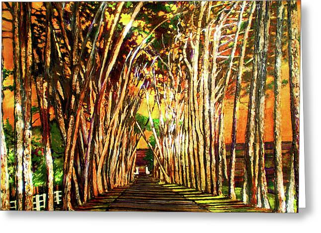 On The Road Greeting Card by Michael Durst