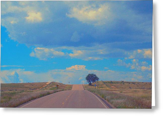 On The Road Oklahoma Revisited Greeting Card by Robert Morrissey