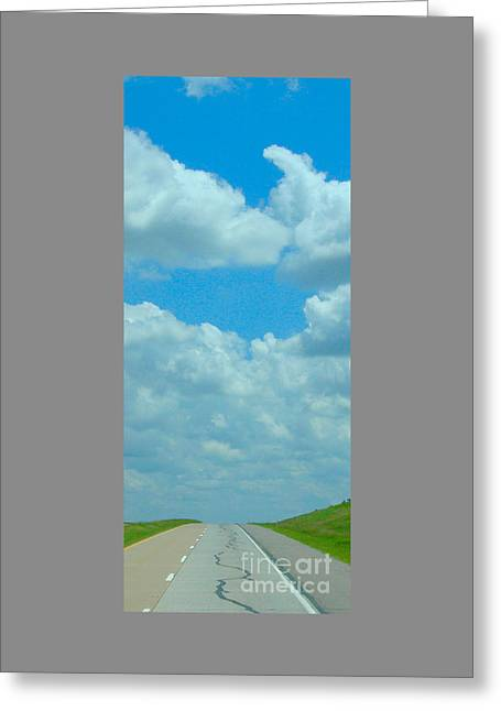 On The Road Greeting Card by Robert Morrissey