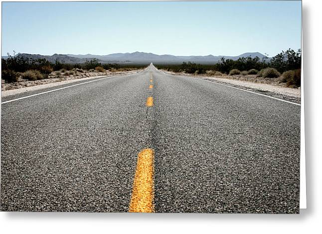 Road Travel Greeting Cards - On The Road Greeting Card by Shane Rees