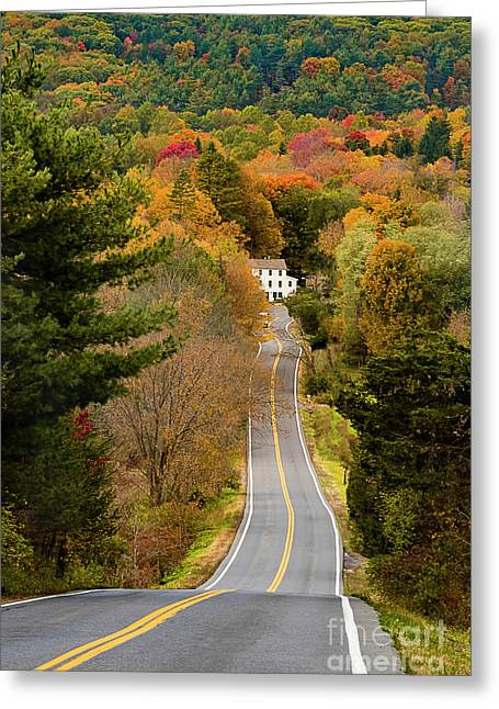 On The Road To New Paltz Greeting Card