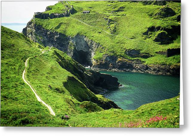 On The Road To Tintagel Greeting Card