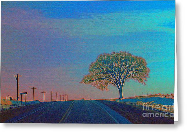 On The Road Wisconsin  Revisited Greeting Card by Robert Morrissey