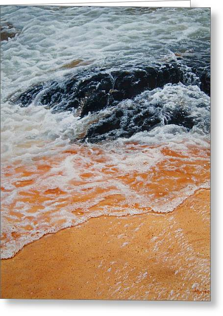 On The Rocks Greeting Card by Christine Deemer