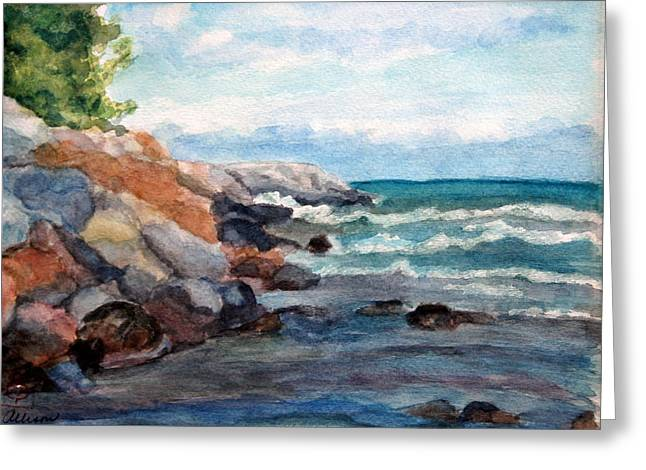 On The Rocks Greeting Card by Stephanie Allison