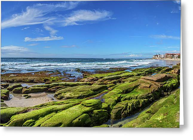 On The Rocky Coast Greeting Card by Peter Tellone
