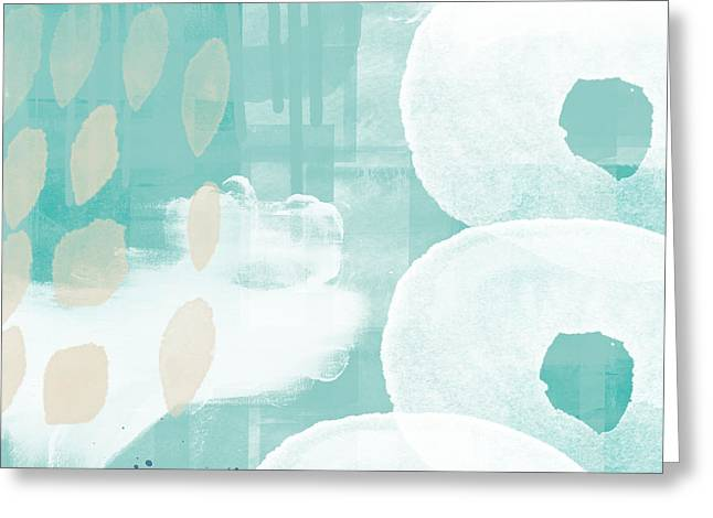 On The Shore- Abstract Painting Greeting Card