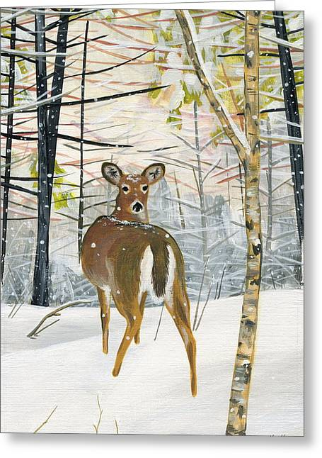 On The Trail Greeting Card