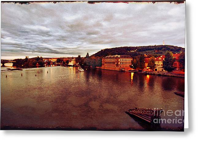 On The Vltava River Greeting Card by Madeline Ellis