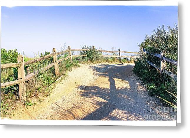 On The Way To Cape May Beach Greeting Card
