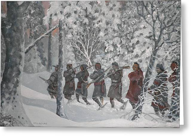 On The Way To Schenectady Greeting Card by Giacomo Alessandro Morotti