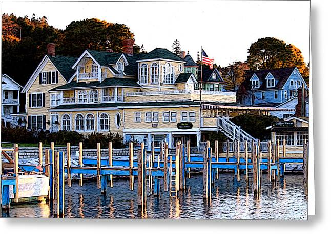 On The Wharf Greeting Card