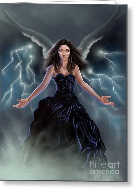 On The Wings Of The Storm Greeting Card