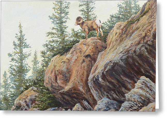 On This Rock Greeting Card by Jim Young