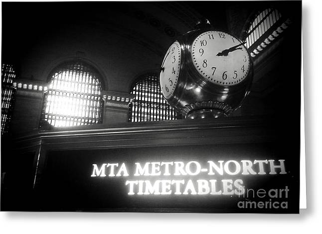 On Time At Grand Central Station Greeting Card by James Aiken