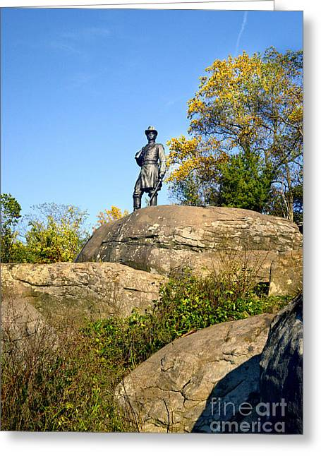 On Top Of Little Roundtop Greeting Card