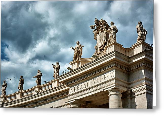 On Top Of The Tuscan Colonnades Greeting Card
