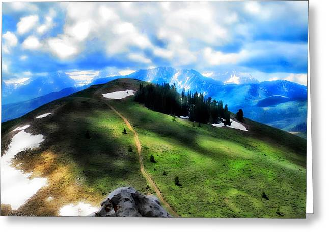 Greeting Card featuring the photograph On Top Of The World 			 by Cindy Greenstein