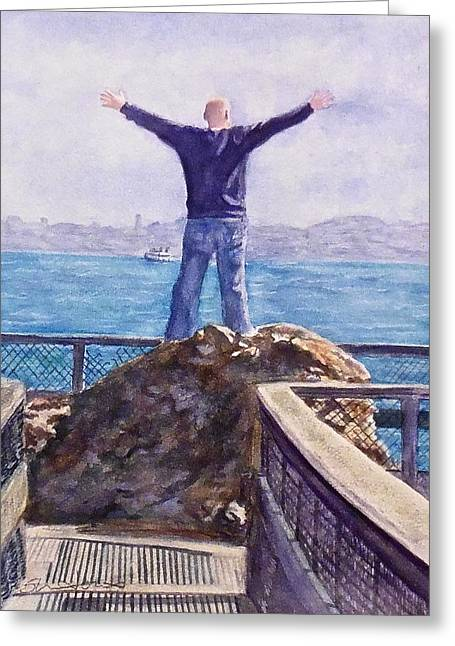 On Top Of The World Greeting Card by Sheri Jones