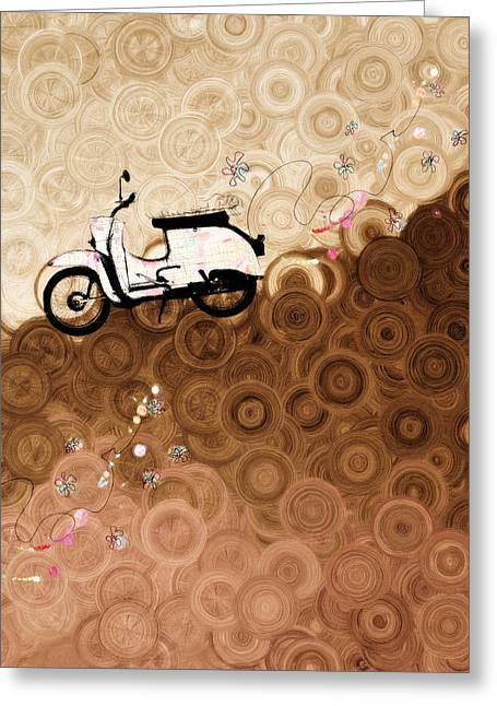 On Top Of The World Whimsy Greeting Card by Georgiana Romanovna