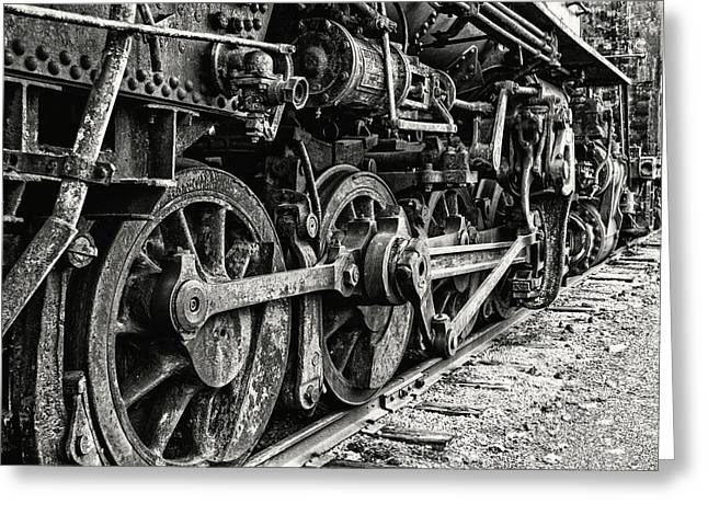 On Track In Black And White Greeting Card