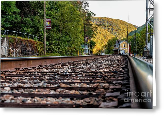 On Track To Thurmond -wv Greeting Card by Kathleen K Parker