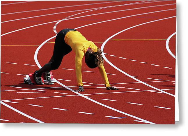 Track And Field 1 Greeting Card by Bob Christopher