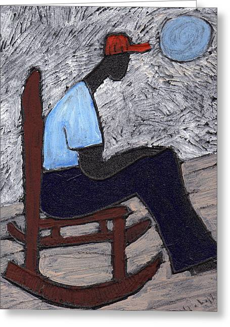 Once In A Blue Moon Greeting Card by Wayne Potrafka