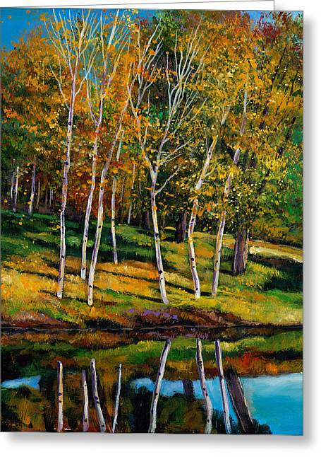 Birch Tree Greeting Cards - Once in a Lifetime Greeting Card by Johnathan Harris