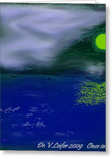 Once In Night Greeting Card by Dr Loifer Vladimir
