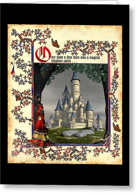 Once Upon A Time . . . Greeting Card by David Griffith