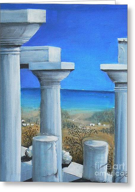 Once Upon A Time In Greece Greeting Card by S G