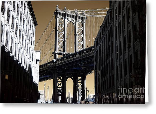 Once Upon A Time In New York Greeting Card by John Rizzuto
