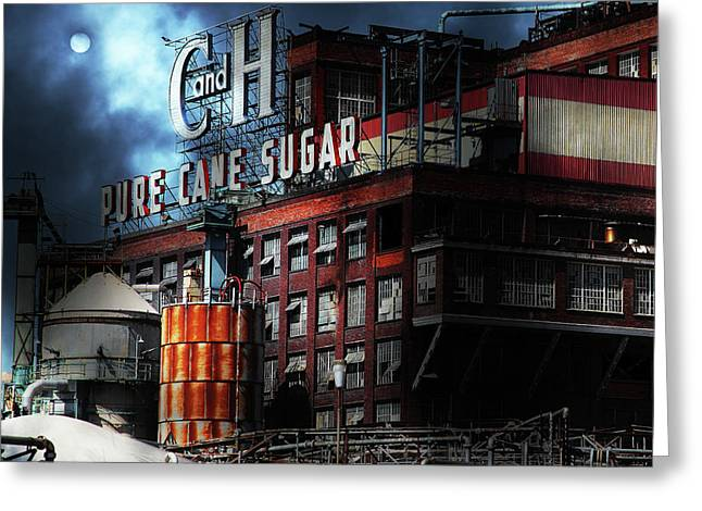 Once Upon A Time In The Sleepy Town Of Crockett California - 5d16760 Square Greeting Card by Wingsdomain Art and Photography