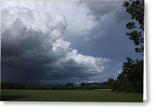 Oncoming Storm Greeting Card by Deborah Brewer