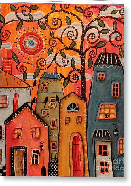 One Afternoon Greeting Card by Karla Gerard
