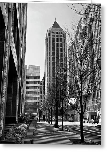 One Atlantic Center In Black And White Greeting Card