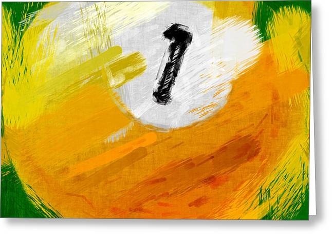 One Ball Abstract Greeting Card by David G Paul