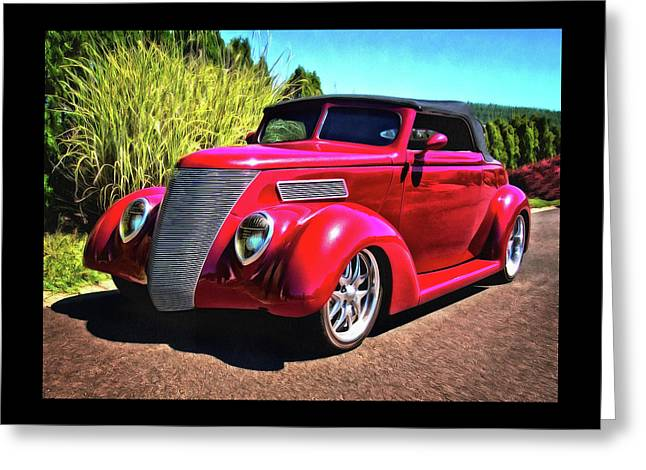 One Cool 1937 Ford Roadster Greeting Card