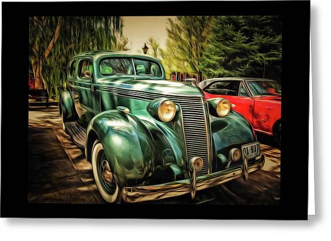 One Cool 1937 Studebaker Sedan Greeting Card