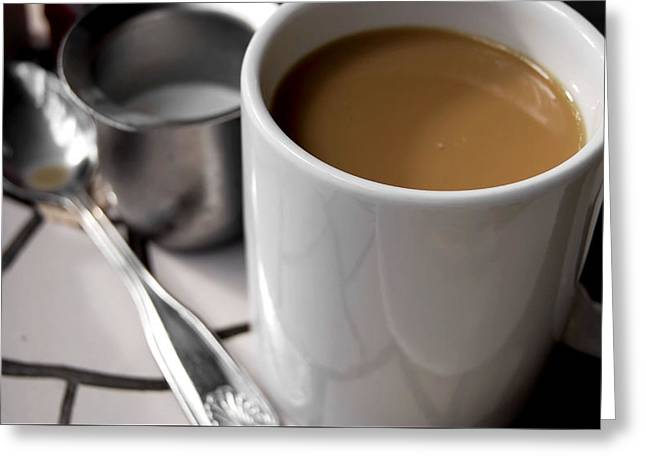 One Cup Of Coffee Greeting Card by JAMART Photography