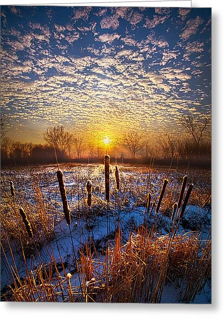 One Day At A Time Greeting Card by Phil Koch