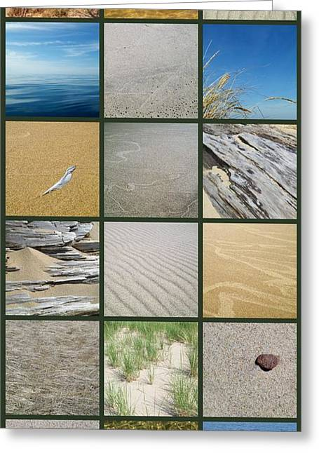 Photo Collage Greeting Cards - One Day at the Beach ll Greeting Card by Michelle Calkins
